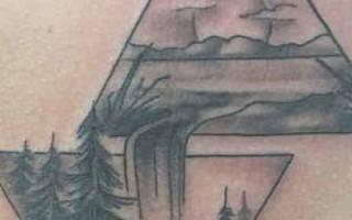 Значение, которым обладает тату с треугольником — символика, кому подходит
