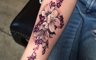 Значение, присущее тату цветов
