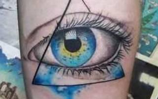 Значение, которым обладает тату глаз в треугольнике — символика, кому подходит