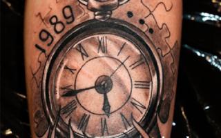 Символическое значение, которое имеет тату часы: виды популярных образов и их смысл