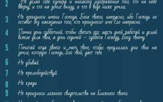 10 заповедей божьих в православии и 7 смертельных грехов